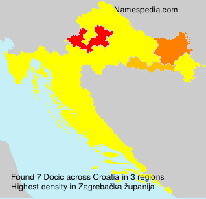 Surname Docic in Croatia
