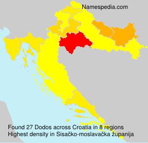 Familiennamen Dodos - Croatia