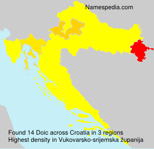 Surname Doic in Croatia