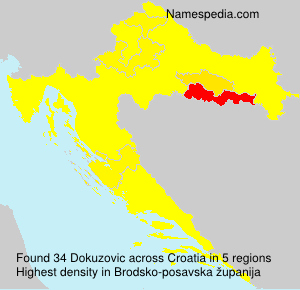Surname Dokuzovic in Croatia
