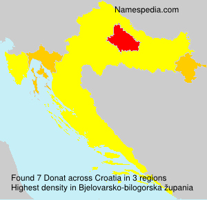 Surname Donat in Croatia