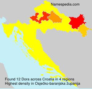 Familiennamen Dora - Croatia