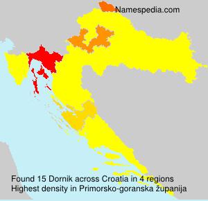Surname Dornik in Croatia