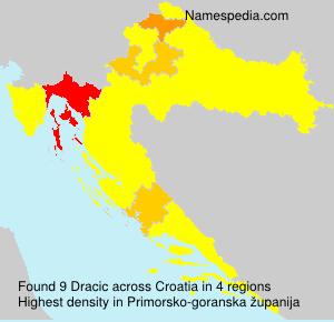 Surname Dracic in Croatia