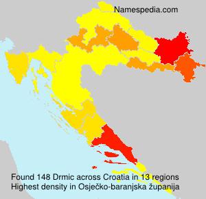 Surname Drmic in Croatia
