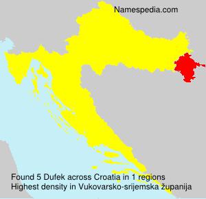 Surname Dufek in Croatia