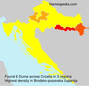 Surname Duma in Croatia