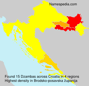 Surname Dzambas in Croatia