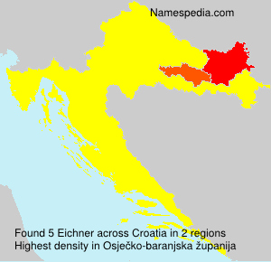 Surname Eichner in Croatia