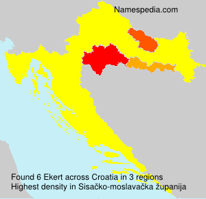 Surname Ekert in Croatia