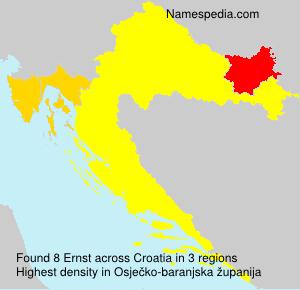 Familiennamen Ernst - Croatia