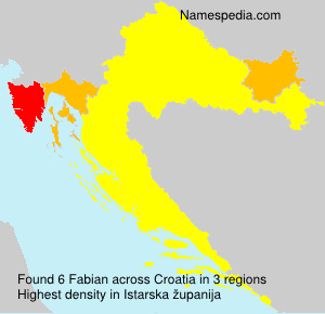 Surname Fabian in Croatia