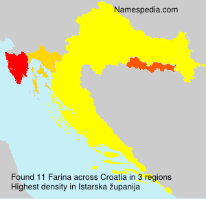 Surname Farina in Croatia