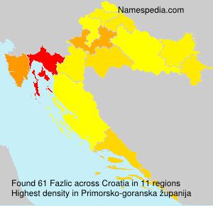 Surname Fazlic in Croatia
