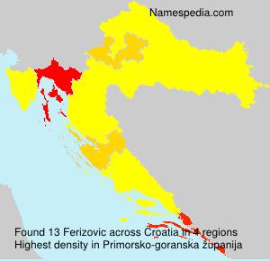 Familiennamen Ferizovic - Croatia