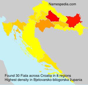 Surname Fiala in Croatia