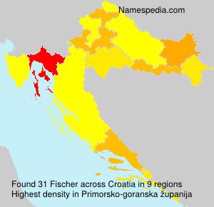 Familiennamen Fischer - Croatia