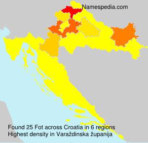 Familiennamen Fot - Croatia