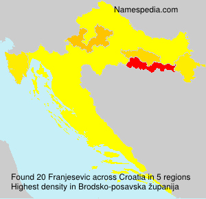 Surname Franjesevic in Croatia