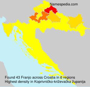 Surname Franjo in Croatia