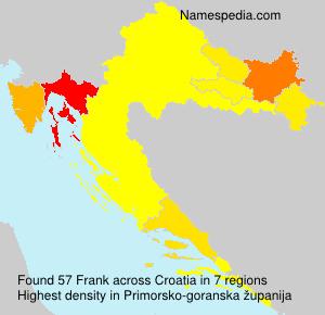 Familiennamen Frank - Croatia