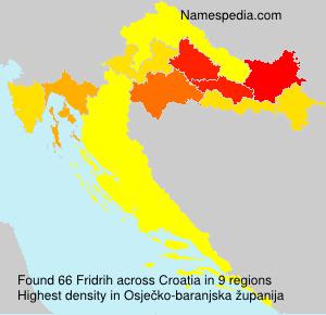 Surname Fridrih in Croatia
