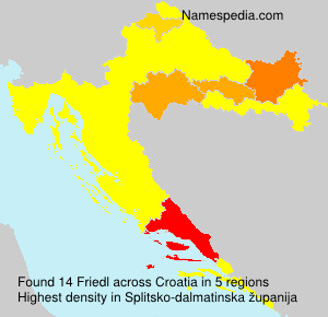 Surname Friedl in Croatia