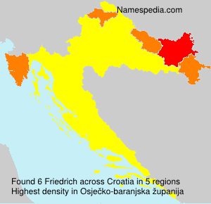 Surname Friedrich in Croatia