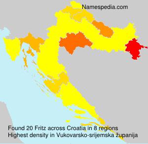 Familiennamen Fritz - Croatia