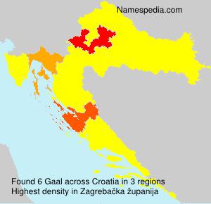 Familiennamen Gaal - Croatia