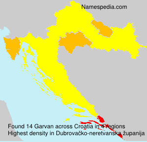 Surname Garvan in Croatia