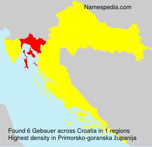 Surname Gebauer in Croatia