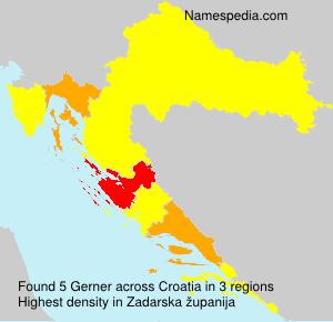 Surname Gerner in Croatia