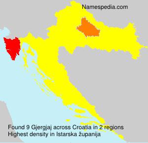 Surname Gjergjaj in Croatia