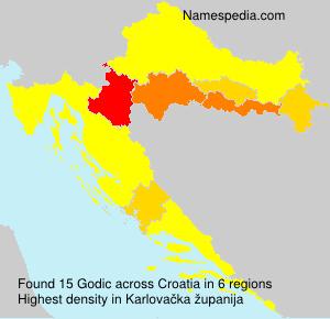 Familiennamen Godic - Croatia