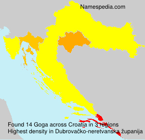 Surname Goga in Croatia