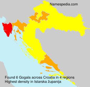 Familiennamen Gogala - Croatia