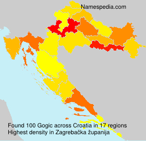 Surname Gogic in Croatia