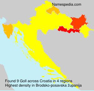 Surname Goll in Croatia