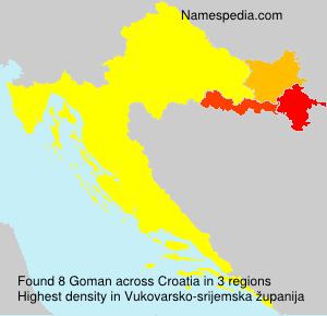 Surname Goman in Croatia