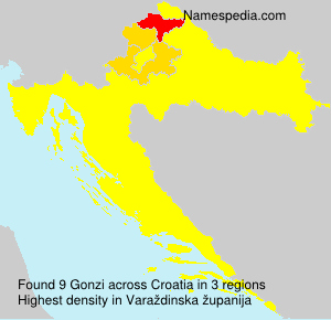 Surname Gonzi in Croatia