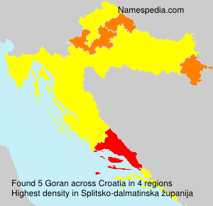 Surname Goran in Croatia