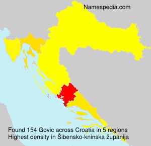 Surname Govic in Croatia