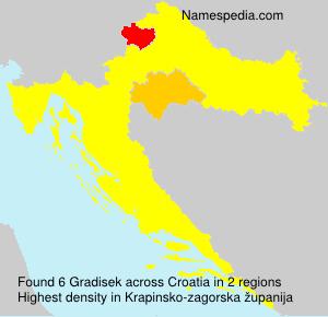 Surname Gradisek in Croatia