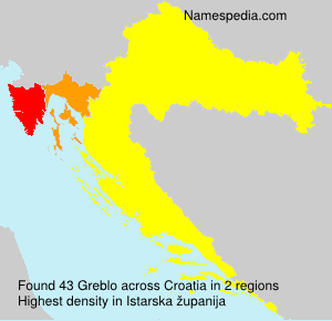 Surname Greblo in Croatia