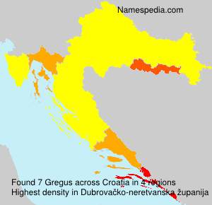 Familiennamen Gregus - Croatia