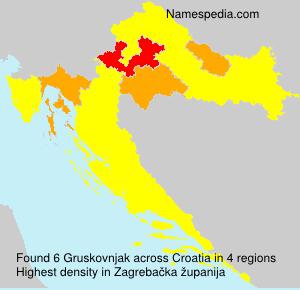 Surname Gruskovnjak in Croatia