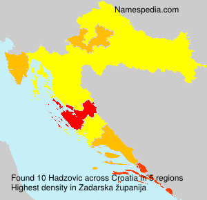 Familiennamen Hadzovic - Croatia