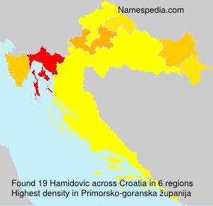 Surname Hamidovic in Croatia