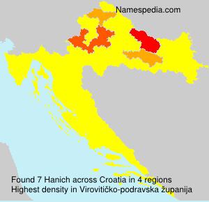 Familiennamen Hanich - Croatia